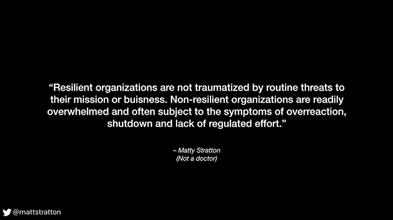Fight, Flight, or Freeze — Releasing Organizational Trauma - Matty Stratton - REdeploy 2018 - Resilient Orgs